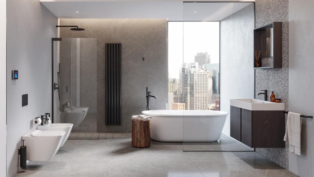 Ванная серого цвета