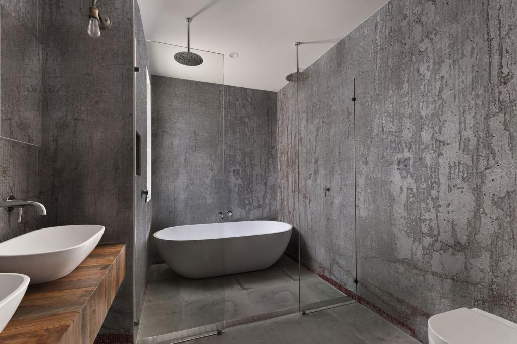 Ванная фактура бетона